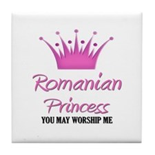 Romanian Princess Tile Coaster