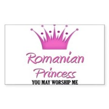Romanian Princess Rectangle Decal