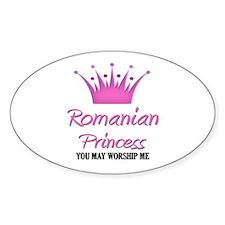 Romanian Princess Oval Decal