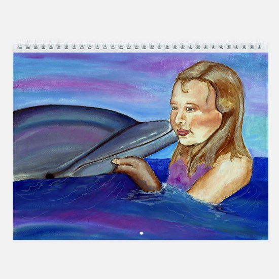Dolphin Daze Dolphin & Mermaid Wall Calendar