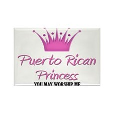 Puerto Rican Princess Rectangle Magnet (10 pack)