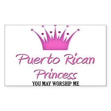 Puerto Rican Princess Rectangle Decal