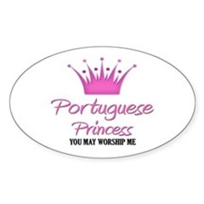 Portuguese Princess Oval Decal