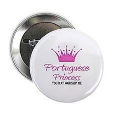 "Portuguese Princess 2.25"" Button"