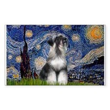 Starry Night & Schnauzer Rectangle Decal