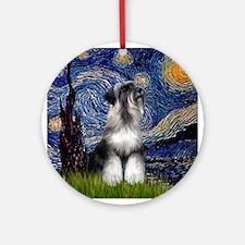 Starry Night & Schnauzer Keepsake (Round)
