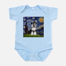 Starry Night & Schnauzer Infant Creeper