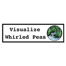 Visualize Whirled Peas Car Sticker