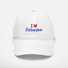 I Love Zebedee (Blue) Baseball Baseball Cap