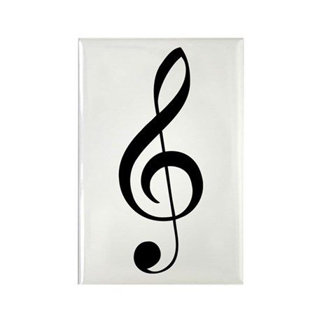 G Clef Rectangle Magnet