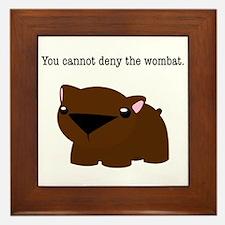 Wombat Framed Tile