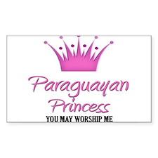 Paraguayan Princess Rectangle Decal