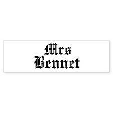 Mrs Bennet Bumper Bumper Sticker