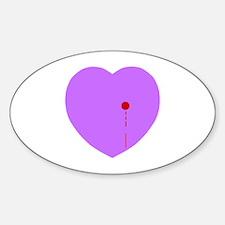 Bleeding Heart Oval Decal