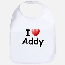 I Love Addy (Black) Bib