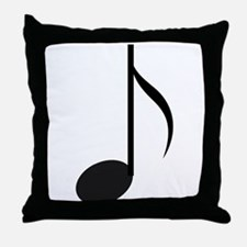 Eighth Note Throw Pillow