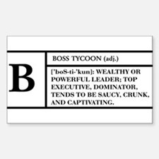 BOSS (WHITE) -- DEFINITION T- Sticker (Rectangular