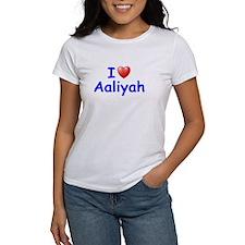 I Love Aaliyah (Blue) Tee