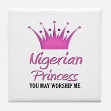 Nigerian Princess Tile Coaster