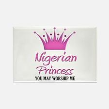Nigerian Princess Rectangle Magnet