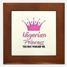 Nigerian Princess Framed Tile