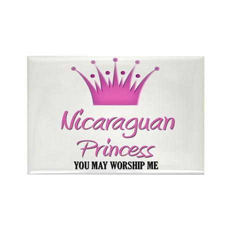 Nicaraguan Princess Rectangle Magnet