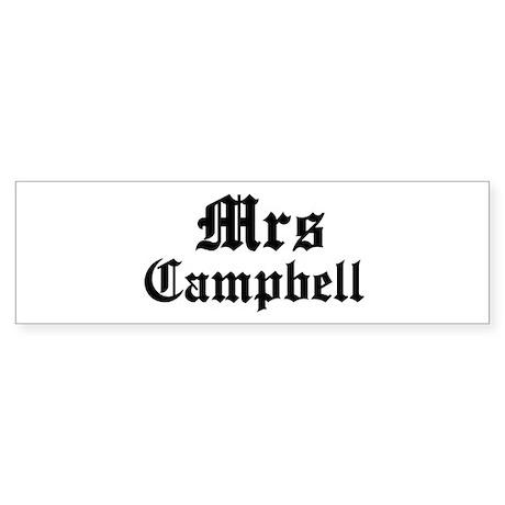 Mrs Campbell Bumper Sticker