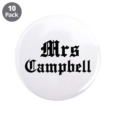 """Mrs Campbell 3.5"""" Button (10 pack)"""