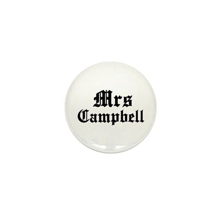 Mrs Campbell Mini Button (10 pack)