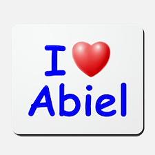 I Love Abiel (Blue) Mousepad