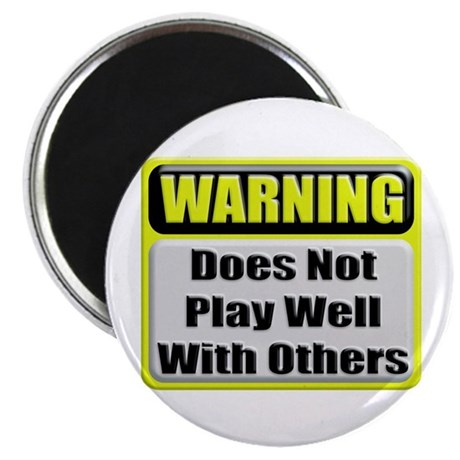 Does not play well with others Magnet