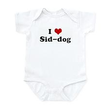 I Love Sid-dog Infant Bodysuit