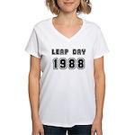 LEAP DAY 1988 Women's V-Neck T-Shirt