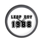 LEAP DAY 1988 Wall Clock