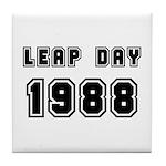LEAP DAY 1988 Tile Coaster