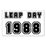 LEAP DAY 1988 Rectangle Sticker