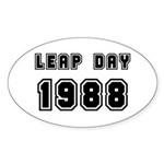 LEAP DAY 1988 Oval Sticker