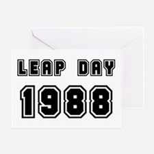 LEAP DAY 1988 Greeting Card