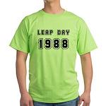 LEAP DAY 1988 Green T-Shirt