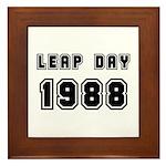 LEAP DAY 1988 Framed Tile