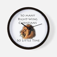So Many Right Wing Christians Wall Clock