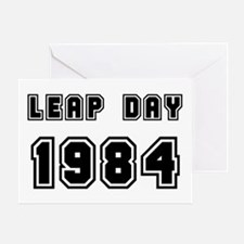 LEAP DAY 1984 Greeting Card