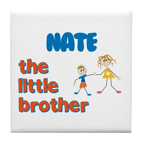 Nate - The Little Brother Tile Coaster