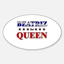 BEATRIZ for queen Oval Decal