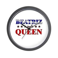 BEATRIZ for queen Wall Clock