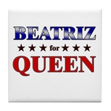 BEATRIZ for queen Tile Coaster