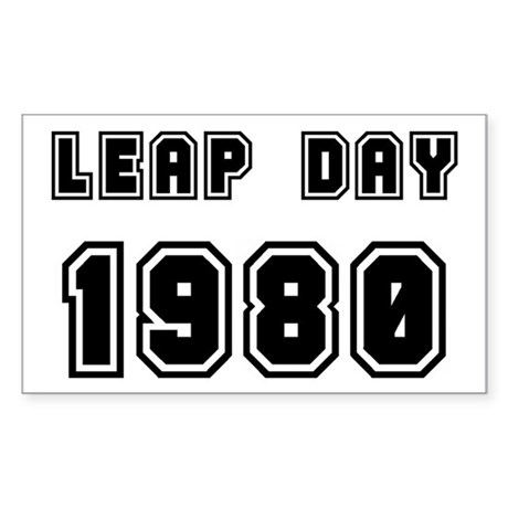 LEAP DAY 1980 Rectangle Sticker