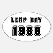 LEAP DAY 1980 Oval Decal