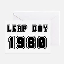 LEAP DAY 1980 Greeting Card