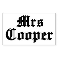 Mrs Cooper Rectangle Decal